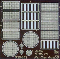 Part 35143 Panther Ausf.G - grille - for Tamiya 1/35