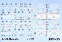 Tally-Ho DECTS7205 1/72 MosquitoStencilData