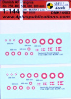 4+ Publications 14483 1/144 Decals Danish AF insignia (2 sets)