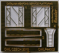 OWL Decals OWLPE44002 1/144 Catalina - weapons service platforms(PE set)
