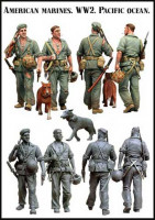 Evolution Miniatures 35033 American marines. WW2. Pacific ocean