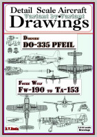 RV AIRCRAFT RVMB-1016 Drawings for Do-335 Pfeil/Fw-190 to Ta-153 (1/144)
