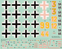 HM Decals HMD-72007 1/72 Decals Bf 109G JG 300 Wilde Sau - Part 1