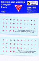4+ Publications 72004 1/72 Decals Eject.seat warning triangles (2 sets)