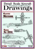 RV AIRCRAFT RVMB-1017 Drawings for Gloster Meteor+Siebel Si-204 (1/144)