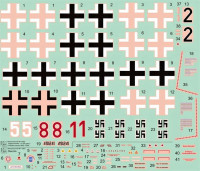 HM Decals HMD-72008 1/72 Decals Bf 109G JG 300 Wilde Sau - Part 2