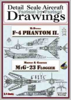 RV AIRCRAFT RVMB-1018 Drawings for F-4 Phantom II + MiG-23 (1/144)