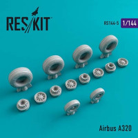 Reskit 14405 1/144 Airbus A320 wheels (REV/ZVE)