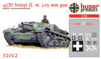 Hunor Product 72012 43M Zrinyi II. (105 mm) 1/72
