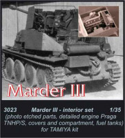 CMK 3023 Marder III - engine set for TAM (Praga AC) 1:35