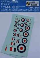 4+ Publications DMK-14406 1/144 Decals RAF roundels Type D (2 sets)