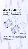 Amigo Models AMG 72008-1 1/72 NK-32 exhaust nozzles for Tu-160 (TRUMP)