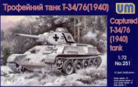 UM  251	Soviet Captured T-34/76 Tank with resin parts