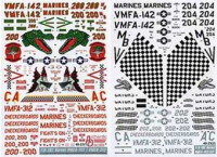 Authentic Decals AD 4823 Modern US MARINE corps. F-18 Hornet, VMFA-142, VMFA-312