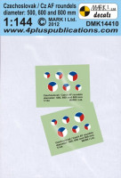 4+ Publications DMK-14410 1/144 Decals Czechoslovak roundels (500,600,800mm)