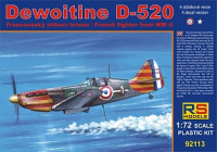 RS Model 92113 Dewoitine D-520 Vichy 1:72