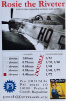 Dousek Riveters PDRIVET01D Rosie the Riveter 0.40mm (for 1/72) DOUBLE