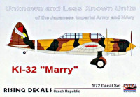Rising Decals 72090 1/72 Ki-32 'Mary' Unknown and Less Known Units