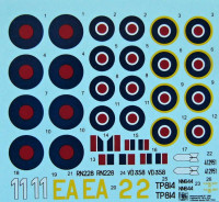 HM Decals HMD-72021 1/72 Decals Captured Bf 109s in the RAF - Part 1