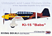 Rising Decals 72091 1/72 Ki-15 'Babs' Unknown and Less Known Units