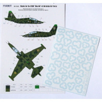 Foxbot FM72-012 Su-25UB Blue 60, Ukranian Air Forces, clover camouflage (Use & Foxbot Decal) 1/72