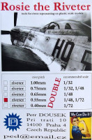 Dousek Riveters PDRIVET02D Rosie the Riveter 0.55mm (for 1/72, 1/48) DOUBLE