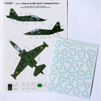 Foxbot FM72-013 Su-25UB Blue 65, Ukranian Air Forces, clover camouflage (Use & Foxbot Decal) 1/72