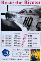 Dousek Riveters PDRIVET03D Rosie the Riveter 0.65mm (for 1/48) DOUBLE
