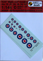 4+ Publications DMK-14416 1/144 Decals RCAF 'Mapple Leaf' roundels (2 sets)