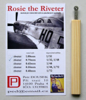 Dousek Riveters PDRIVET04 Rosie the Riveter 0.75mm (for 1/48, 1/32)
