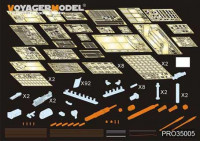 Voyager Model PRO35005 Modern US  M1A2 SEP w/TUSK2  Abrams (For DRAGON 3536)