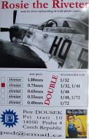 Dousek Riveters PDRIVET04D Rosie the Riveter 0.75mm (for 1/48, 1/32) DOUBLE