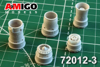 Amigo Models AMG 72012-3 1/72 R25-300 engine exh.nozzle for MiG-21bis/21-93