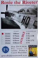 Dousek Riveters PDRIVET05D Rosie the Riveter 1.00mm (for 1/32) DOUBLE