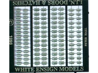 White Ensign Models PE 0729 IMPERIAL JAPANESE NAVY DOORS AND HATCHES (100+ IN 5 STYLES) 1/700
