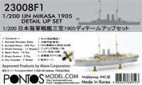 Pontos model 23008F1	IJN Mikasa 1905 Detail up set 1/200