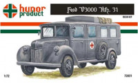 Hunor Product 72031 43M Ford V3000 Kfz. 31. Ambulance 1/72