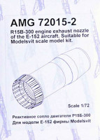 Amigo Models AMG 72015-2 1/72 R15B-300 engine exh.nozzle for E-152 (MSVIT)