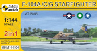 Mark 1 Model MKM-144.104 1/144 F-104A/C/G Starfighter (4x camo) 2-in-1
