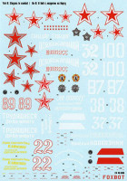 "Foxbot 48-006 Soviet interceptor and fighter aircraft Yak-9 ""Slogans in combat"" 1/48"