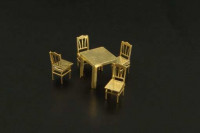 Brengun BRL144028 Table and chairs 1/144
