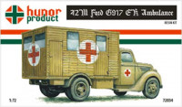 Hunor Product 72034 42M Ford G917 E.K. Ambulance (Front Vers.) 1/72