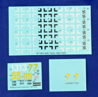 HM Decals HMD-72034 1/72 Decals Bf 109G over the Czech territory Pt.1