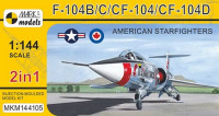 Mark 1 Model MKM-144.105 1/144 F-104B/C/CF-104/CF-104D (4x camo) 2-in-1