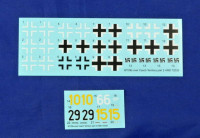 HM Decals HMD-72035 1/72 Decals Bf 109G over the Czech territory Pt.2