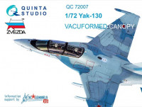 Quinta studio QC72007 Yak-130 vacuformed clear canopy with det.cord (for Zvezda kit) 1/72