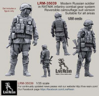LiveResin LRM35039 Russian Army soldier in modern infantry combat gear system, set 1 1:35