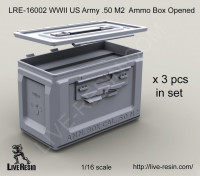 LiveResin LRE16002 1:16 WWII US Army .50 M2 Ammunition Ammo Box opened