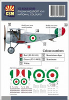 Copper State Models D32-001 Nieuport XVII, Italian National colours 1/32