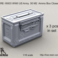 LiveResin LRE16003 1:16 WWII US Army .50 M2 Ammunition Ammo Box Closed